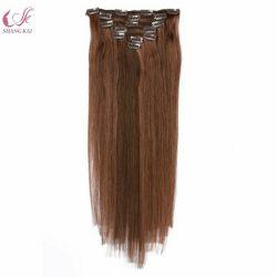 7pcs Double Double trame appelée clip dans l'homme Remy Hair Extensions pour les femmes blanches