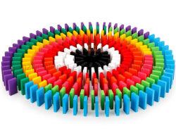 أجهزة كمبيوتر أصلية 100 لعبة خشبية ملونة Domino
