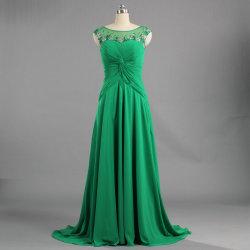 E264 2019 зеленый мало поезда платье короба под решеткой горловины долго шифон сарафан вечерние платья