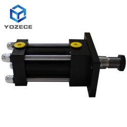 정면 부분 직사각형 플랜지 풀 로드 주문 유형 빛 기계적인 액압 실린더