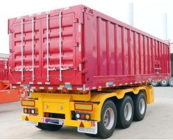 工場供給の9メートルのフラットパネルのダンプのセミトレーラー13tの鋼鉄ダンプトラックのトレーラーの三軸のトレーラートラックボックストレーラー