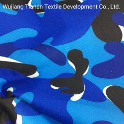 Печать из переработанного полиэстера Satin персиковый цвет кожи ткани для пляжа короткое замыкание или вниз куртка ткань