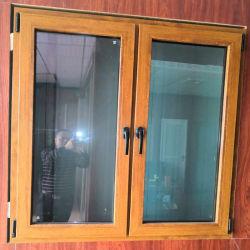 As portas de PVC Windows UPVC Madeira e gire a janela de Inclinação