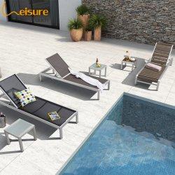 Lounger di alluminio di Sun del Poolside esterno della mobilia di svago nel tessuto di maglia per la spiaggia - Kerr