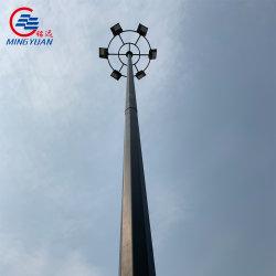 Galvanizado en caliente del mástil de acero de alta Polo Polo Polo de la lámpara de luz para la Iluminación de jardín