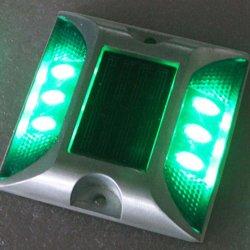 ألومنيوم مزدوج الجوانب مقاوم للمياه Cat Eye Solar LED Light Highway عاكس الطريق دعامة