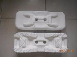 Plano de plástico de color blanco de pies de la base temporal de cerco (XMR231)