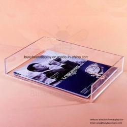 Gabinete de acrílico, bandeja de papel A4 Suporte para visualização e arquivo