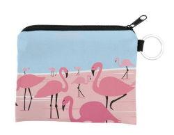 Venta caliente personalizado creativo Flamingo cartera pequeña moneda de la bolsa de las claves de la cartera