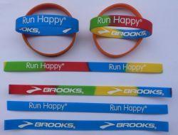 Banheira de borracha de silicone Pulseira braceletes toda a impressão de cores