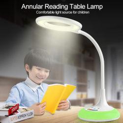 Tissu abat-jour moniteur de chevet lampe de lecture LED Lampes de table en céramique