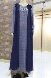 サイズとイスラム教の服のKaftanのAbayaの服は方法ブランドのドバイAbayaのイスラム教の衣類に服を着せる