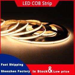 Fita LED de Alta Densidade a Luz Fita DC12V 24V 480 LEDs 8mm IP20 9W/M Branco Dotless Branca Quente de Sabugo Luz Fitas de LED