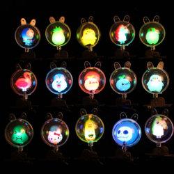 동곳 동곳 빛 머리 빛이 LED에 의하여 점화한다