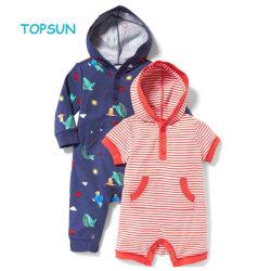 OEMカスタムプリント有機性綿の幼児Onesieの赤ん坊のスーツの服装