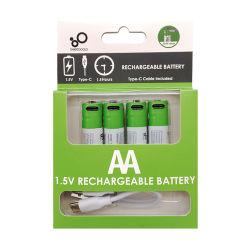 Lithiumbatterijen 1,5V Li-ion AA 2600 mwh oplaadbare li-batterij