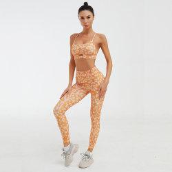 Salle de gym de l'habillement Slim Fit Fitness Tracksuits femmes Sexy costume de Yoga