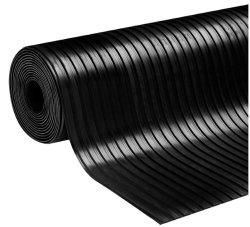 10mm de espesor 2000mm de ancho de hoja de caucho utilizado amplia superficie posterior acabado con 1 capas de tejido 2ply 3ply