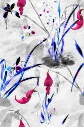С цветочным рисунком часть платье из шелка Organza печатной платы