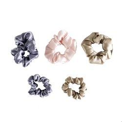 precio de fábrica de satén de seda elástica Scrunchies pelo diadema de seda para la Mujer