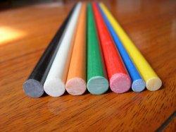 GRP 단단한 지팡이, FRP 단단한 지팡이, 섬유유리 고체 지팡이