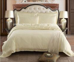 Elegante design Jacquard 100% algodão conjunto de roupa de cama de hotel