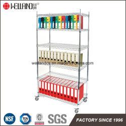 Bureau en métal chromé réglable moderne Rack de stockage pour le fichier