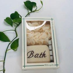 Esponjas de banho do separador de pregos e Turco Scrubber Definido