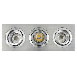 Токарный станок алюминия с цоколем GU10 РУКОВОДСТВО ПО РЕМОНТУ16 Sweep Multi-Angle 3 единицы измерения площади наклона встраиваемый светодиодный потолочный светильник (LT2301-3)