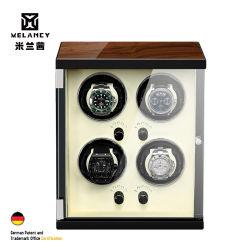 4 Caixa de luxo de elevador de vidros de relógio nova exibição automática de madeira
