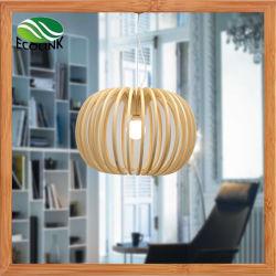 Plafonnier de bambou bambou lampe de la poignée de commande