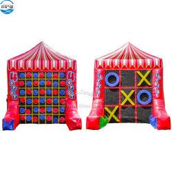 2 Jeu dans 1 Tic Tac Toe gonflable 4 Place Jeux combo, les adultes et enfants Jeux de Sport gonflable