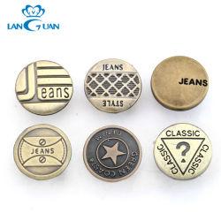 ロゴによって印刷される方法金属のジーンズの鋲ボタンをカスタマイズしなさい