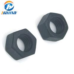 الصين المصنعين الفولاذ المقاوم للصدأ SS304 SS316 ASTM A194 B8 B8M صامولة سداسية ثقيلة/4.8 درجة 8 / مطلية باللون الأسود DIN934 A194 2H صامولة سداسية/صامولة سداسية في المخزن