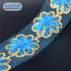 ハンズの中国の製造者の流行のレースのトリムの刺繍のアップリケ