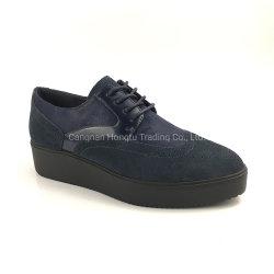 Het zachte Enige Leer van Pu Dame Flange Fashion Flat Shoes