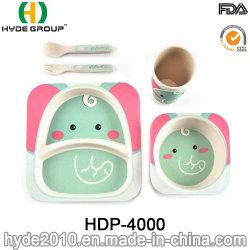 동물성 대나무 섬유 아이들 아이 아기 부 큰 접시 식기 세트 (HDP-4000)