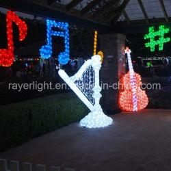 Der musikalischen Darstellungs-LED Motiv-Licht Beleuchtung-Weihnachtsder dekoration-LED