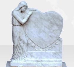 La pierre naturelle Monument de pierre tombale de granit gris SF-011 pour jardin Cremetery