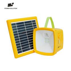 Precios baratos de LED al por mayor de la luz solar de la radio con cargador USB y el indicador de batería