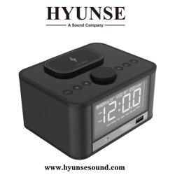 Qi беспроводной зарядки FM радио с будильником Bluetooth громкоговоритель с USB, TF, Aux, функции отложенного сигнала