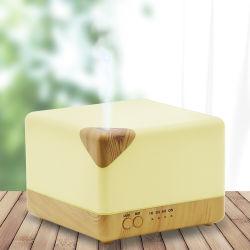 El grano de madera de 700 ml de aceite esencial de la luz de LED difusor de aroma