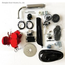 80cc 자전거 엔진 장비 빨간 페인트 가스 모터 장비 DIY에 의하여 자동화되는 자전거 2 치기 가스 기관 모터 장비