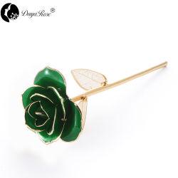 Daiya 진한 녹색 로즈 24K 금 (금박) 승진 선물