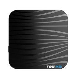Красивый дизайн T95X2 Amlogic S905X2 2.4G WiFi Hdr 4 ГБ оперативной памяти Smart TV приемник Android 8.1 адаптер WiFi для телеприставки