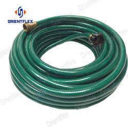 最もよく適用範囲が広い100つのFTよじれポリエステル繊維強化頑丈なバルク短く黒いピンク無し1インチPVC水ガーデン・ホースの管の販売の製造者