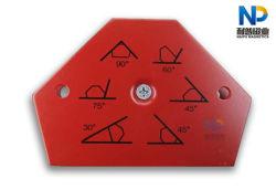 Imán de la soldadura de forma hexagonal con 75kgs tire de la fuerza y la pintura roja