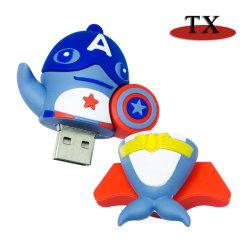 Bela caricatura USB em PVC