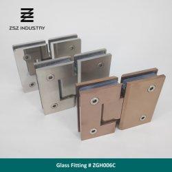 Acero inoxidable bisagra de puerta de vidrio de vidrio de 180 grados a la plana de cristal