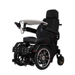 320W モータスチール屋外用電動車椅子を設置